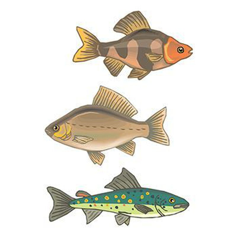 Set of 3 Fish Temporary Tattoos image number null