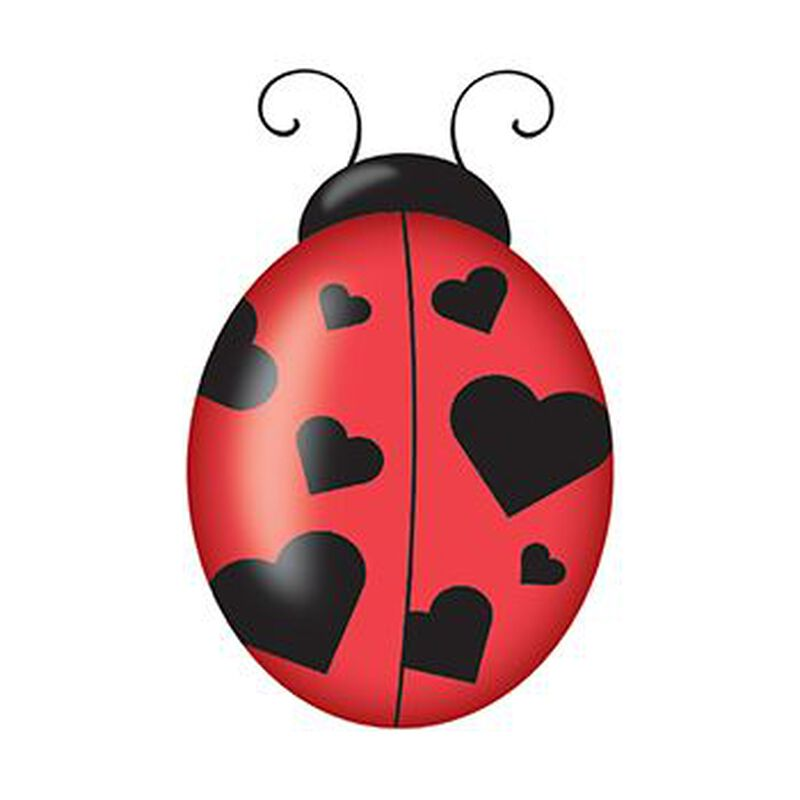 Heart Ladybug Temporary Tattoo image number null