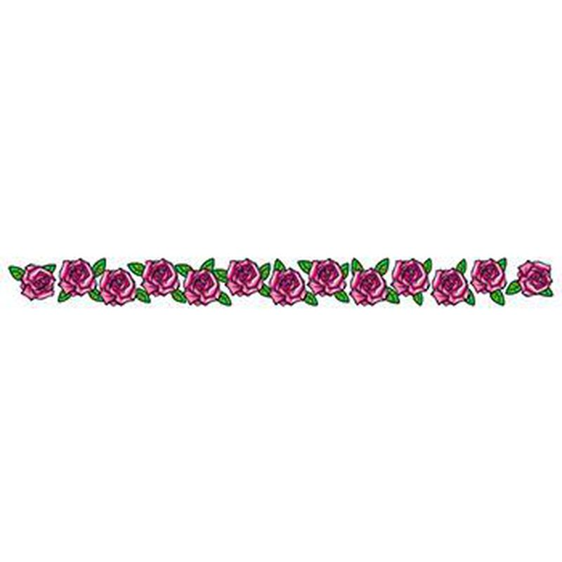 Band of Pink Roses Temporary Tattoo image number null