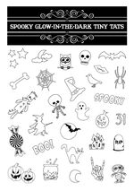 Spooky Glow-In-The-Dark Tiny Tats Temporary Tattoos
