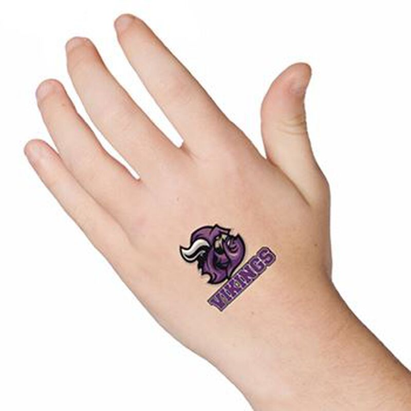 Vikings Sports Temporary Tattoo image number null