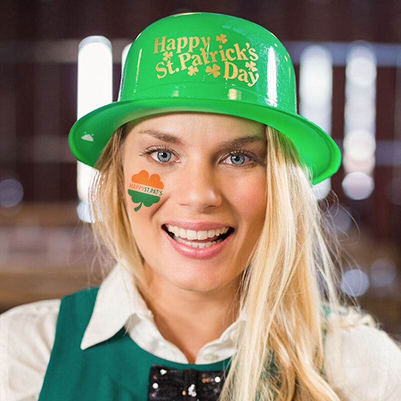 Happy St. Pat's Clover Temporary Tattoo image number null
