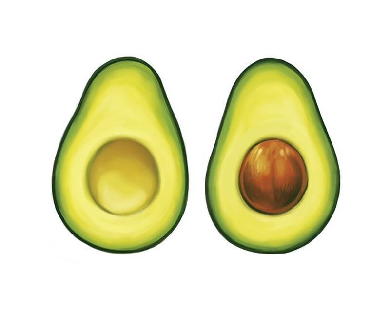 Avocado Couples Temporary Tattoo image number null