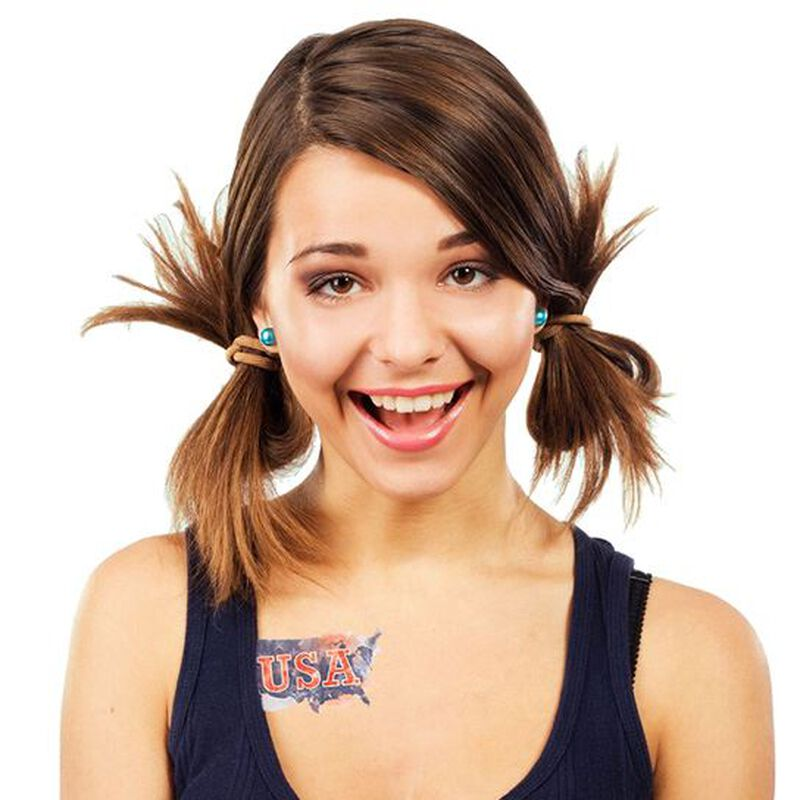 Patriotic USA Map Temporary Tattoo image number null