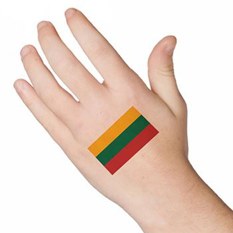 Flag of Lithuania Temporary Tattoo image number null