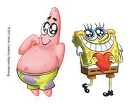 Best Friends Spongebob Squarepants Temporary Tattoo