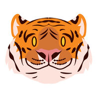 Tiger Face Temporary Tattoo