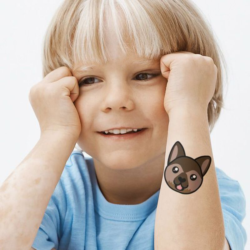 Shepherd Face Temporary Tattoo image number null