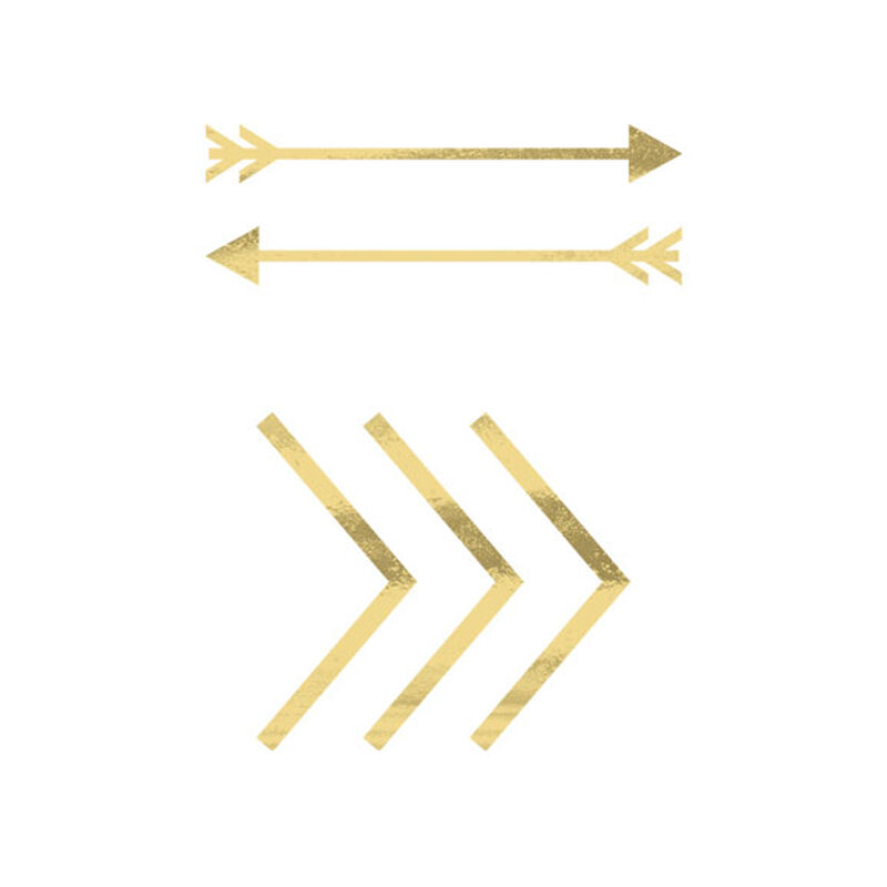 Metallic Gold Arrows Temporary Tattoo image number null