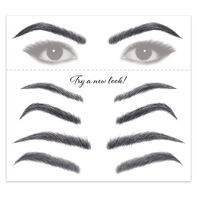 Women's Black Eyebrow Temporary Tattoos