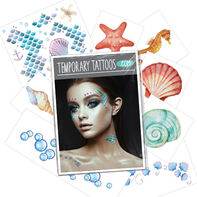 Mermaid Costume Pack Temporary Tattoos