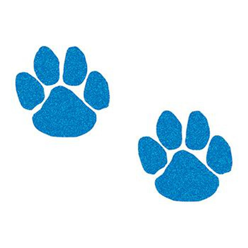 Glitter Blue Paw Prints Temporary Tattoos image number null