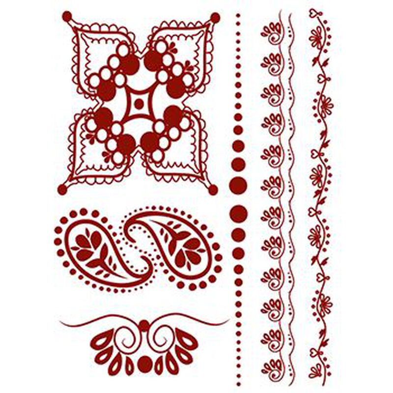 Henna: Whimsical Temporary Tattoo Set image number null
