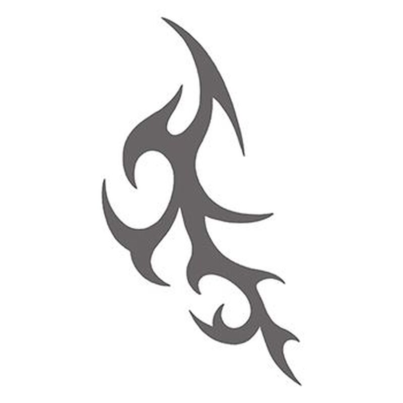 Tribal Gray Spikes Temporary Tattoo image number null