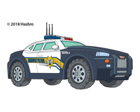 Tonka Police Car Temporary Tattoo