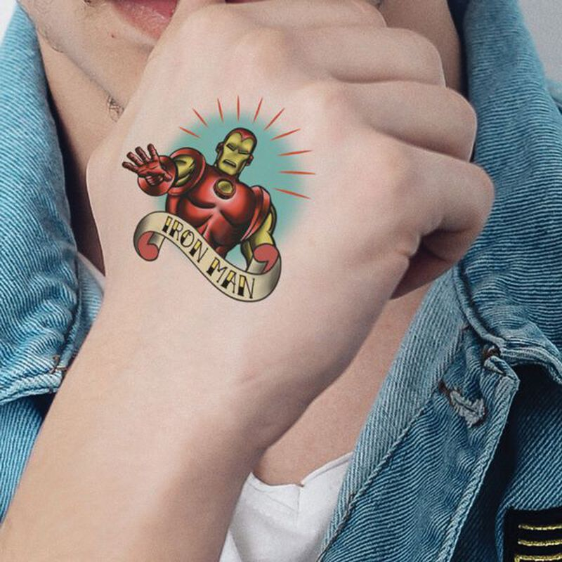 Marvel Ink Iron Man Temporary Tattoo image number null