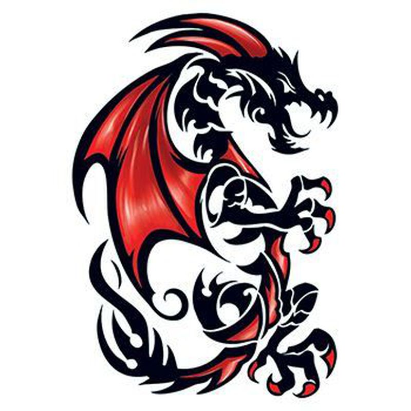 Draco Dragon Large Temporary Tattoo image number null