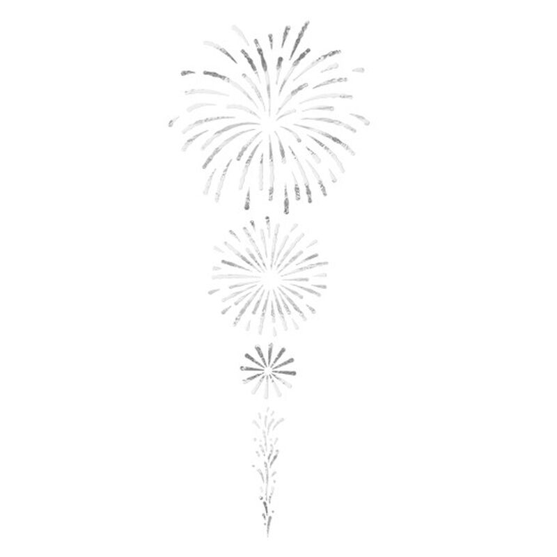 Silver Fireworks Temporary Tattoo image number null