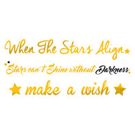 Metallic Star Quotes Temporary Tattoo