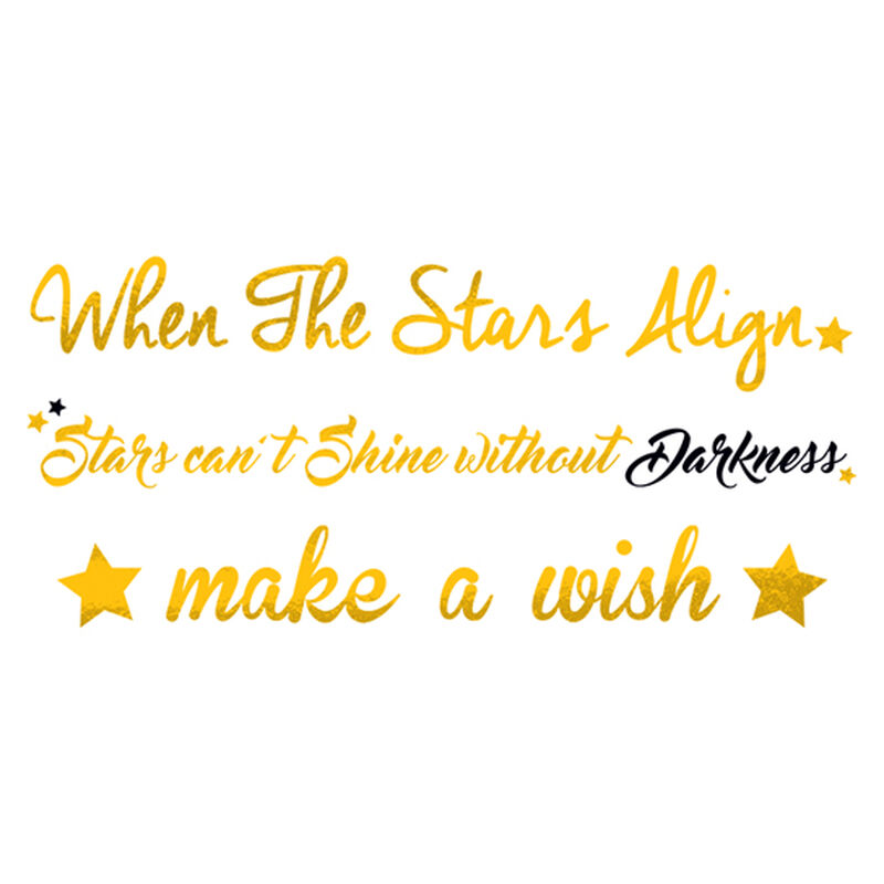 Metallic Star Quotes Temporary Tattoo image number null