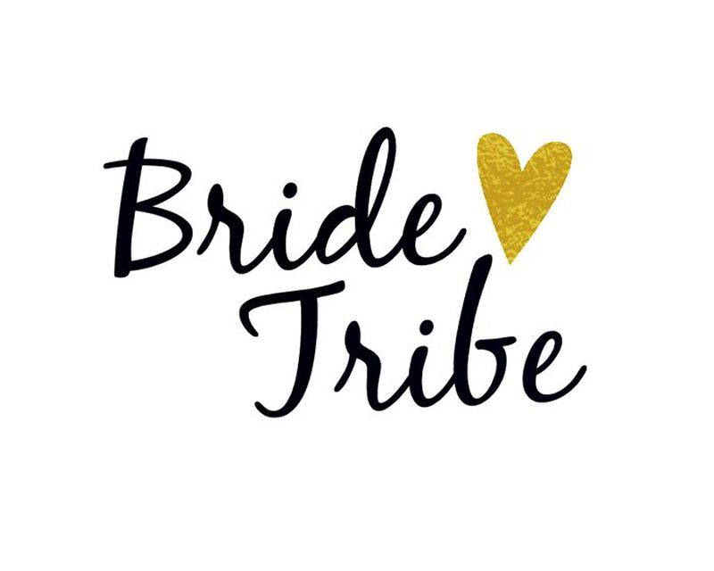 Metallic Bride Tribe Temporary Tattoo image number null
