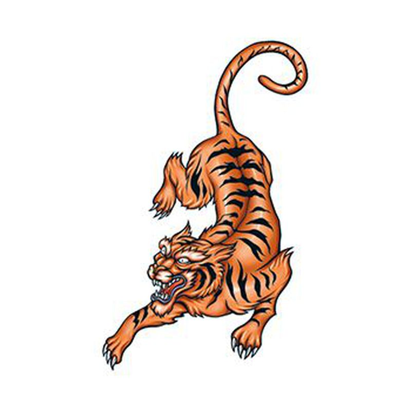 Pouncing Tiger Temporary Tattoo image number null