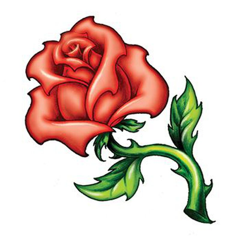 Rose with Thorns Temporary Tattoo image number null