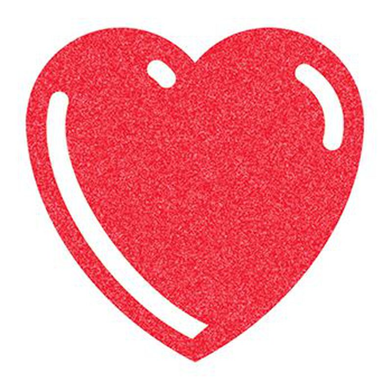 Glitter Basic Red Heart Temporary Tattoo image number null