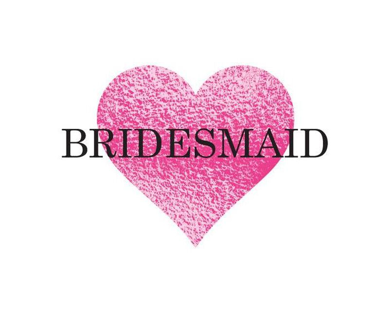 Metallic Bridesmaid Heart Temporary Tattoo image number null