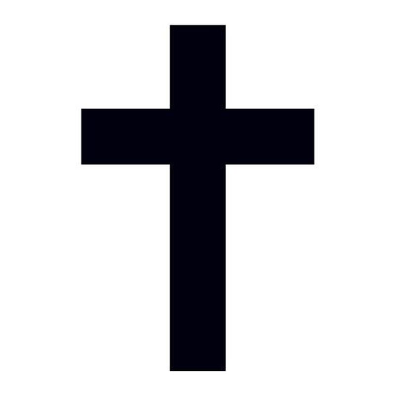 Small Black Cross Temporary Tattoo image number null