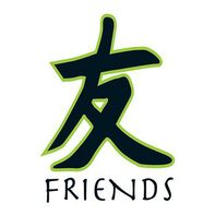 Kanji Friends Temporary Tattoo