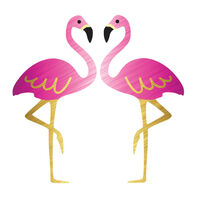 Metallic Flamingos Temporary Tattoo