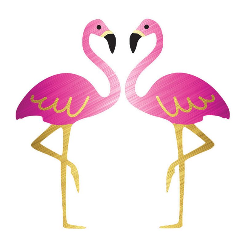 Metallic Flamingos Temporary Tattoo image number null