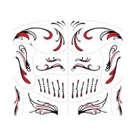 Day of the Dead Red Accessory Temporary Tattoo