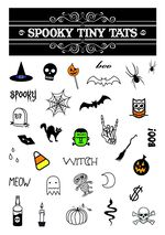 Spooky Tiny Tats Temporary Tattoos