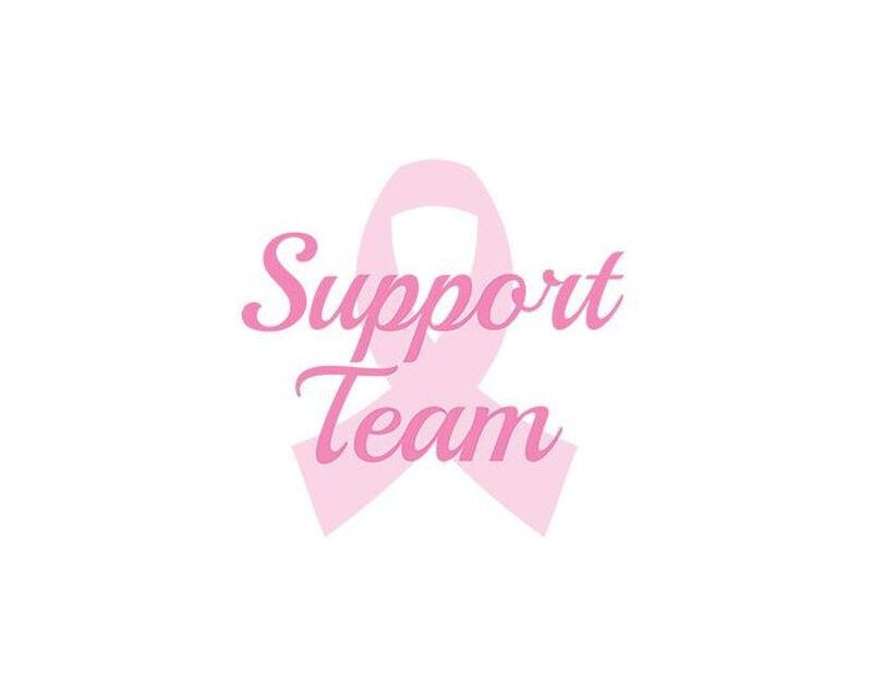 Breast Cancer: Support Team Temporary Tattoo image number null
