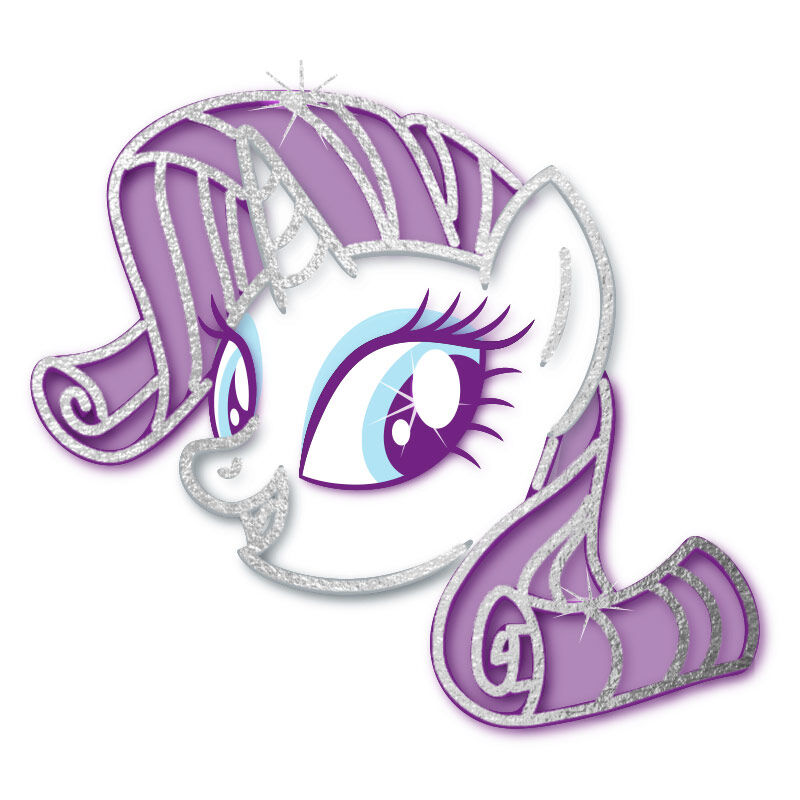 My Little Pony Rarity Metallic Temporary Tattoo image number null