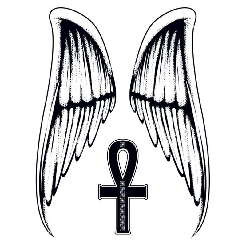 Large Wings Temporary Tattoos image number null