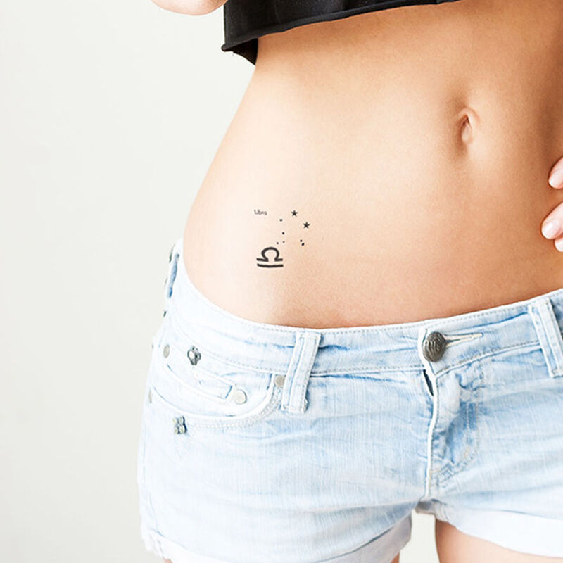 Libra Astrological Temporary Tattoo image number null