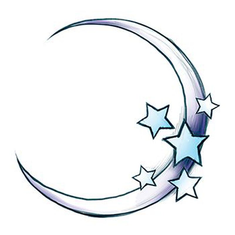 Moon Temporary Tattoo image number null