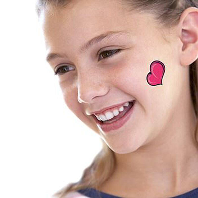 Pink Heart Temporary Tattoo image number null