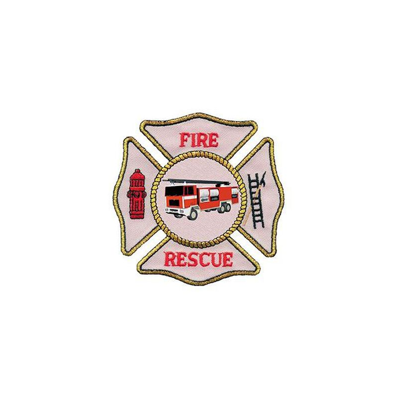 Fire Rescue Patch Temporary Tattoo image number null