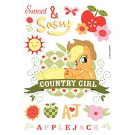 My Little Pony: Sweet and Sassy Applejack Temporary Tattoo