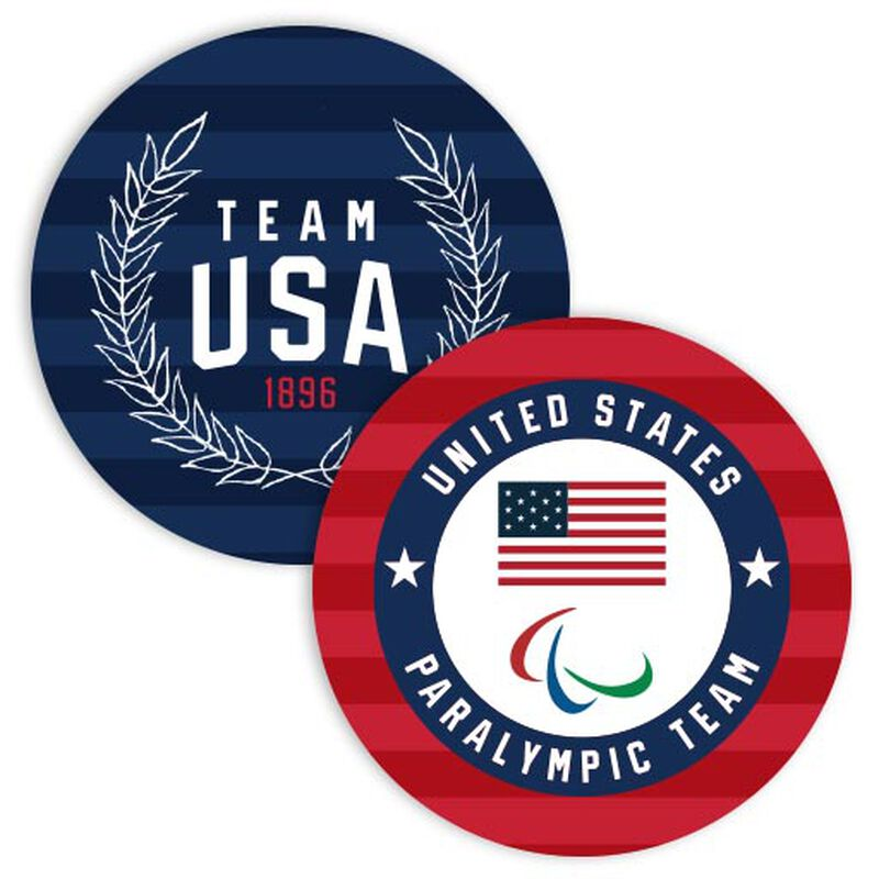 team usa and team paralympic coasters image number null