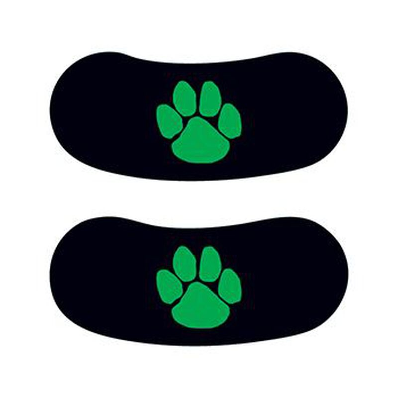 Green Paw Eye Black Temporary Tattoo image number null