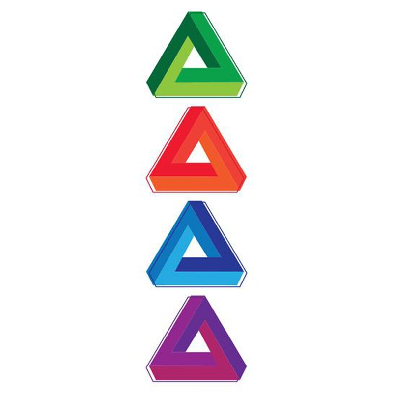 Colorful Triangle Temporary Tattoos image number null