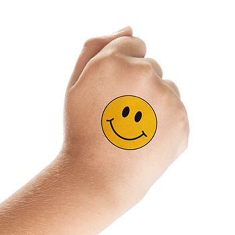 Smiley Face Temporary Tattoo image number null