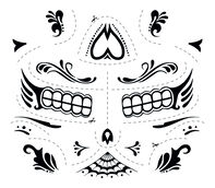 Day of the Dead Male Temporary Tattoo