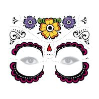Day of the Dead Floral Temporary Tattoo