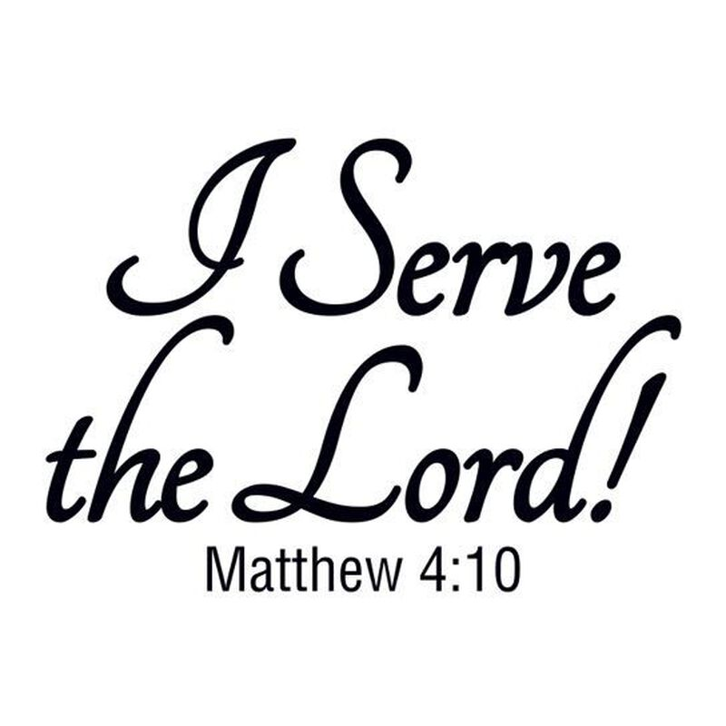 I Serve The Lord! Temporary Tattoo image number null